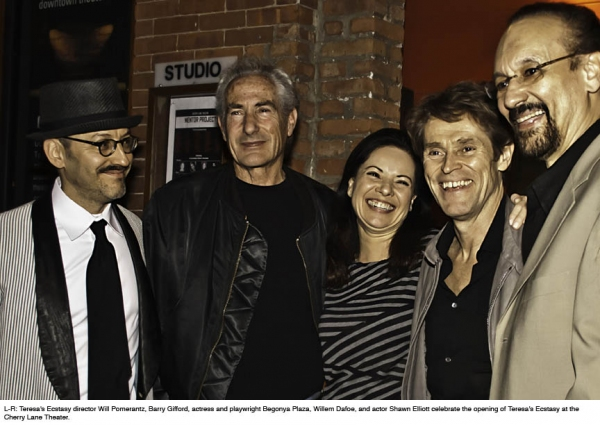 Will Pomerantz, Barry Gifford,  Begonya Plaza, Willem Dafoe, and Shawn Elliott