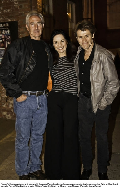 Begonya Plaza with Barry Gifford and Willem Dafoe  at Donna Murphy & More Opening Night TERESA'S ECSTASY at Cherry Lane Theatre