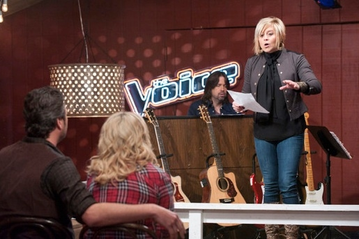 Blake Shelton, Miranda Lambert & Gwen Sebastian at First Look - Alanis Morissette Mentors on NBC's THE VOICE, 3/19