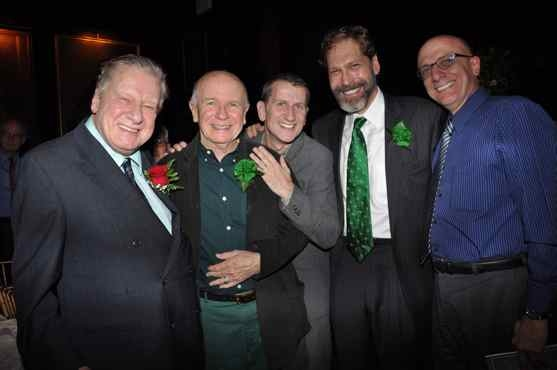Brian Murray, Terrence McNally, Tom Kirdahy, David Staller and Tom Viola at Project Shaw's Golden Shamrock Gala