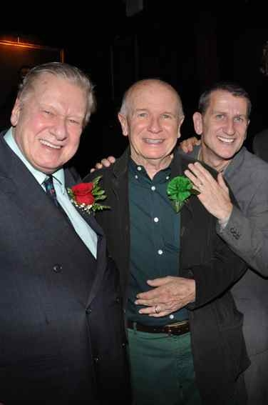 Brian Murray, Terrence McNally and Tom Kirdahy at Project Shaw's Golden Shamrock Gala