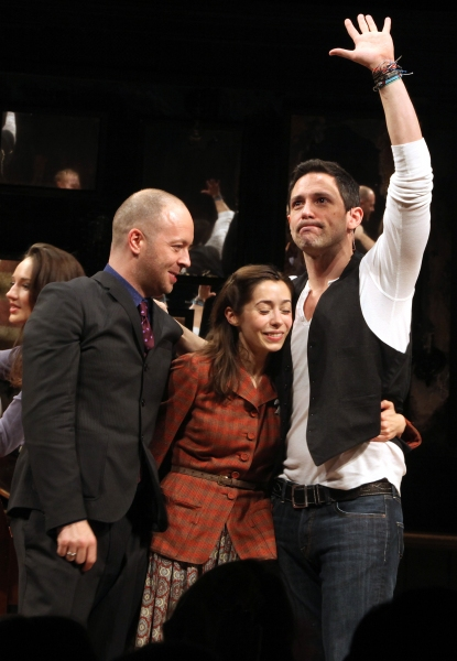 Director John Tiffany with Steve Kazee & Cristin Milioti  at ONCE Opens on Broadway - The Premiere Bows!