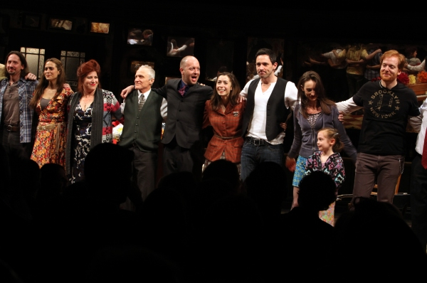 J. Michael Zygo, Erikka Walsh, Anne L. Nathan, David Patrick Kelly, John Tiffany, Cristin Milioti, Steve Kazee, Ripley Sobo, Elizabeth Davis & David Abeles at ONCE Opens on Broadway - The Premiere Bows!