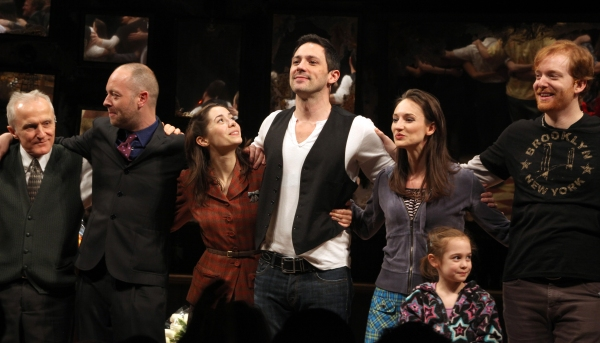 David Patrick Kelly, John Tiffany, Cristin Milioti, Steve Kazee, Ripley Sobo, Elizabeth Davis & David Abeles  at ONCE Opens on Broadway - The Premiere Bows!