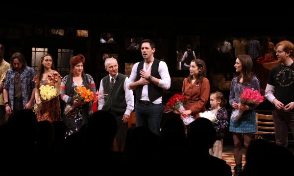 J. Michael Zygo, Erikka Walsh, Anne L. Nathan, David Patrick Kelly, Steve Kazee & Cristin Milioti, Ripley Sobo, Elizabeth Davis & David Abeles at ONCE Opens on Broadway - The Premiere Bows!