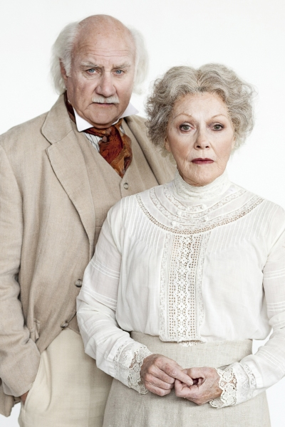 Peter Michael Goetz as James Tyrone, Sr. and Helen Carey as Mary Tyrone in Arena Stage at the Mead Center for American Theater�s production of Long Day�s Journey into Night. Photo by Scott Suchman.