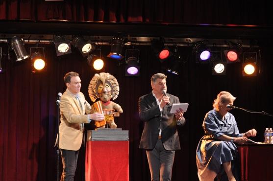 Patrick Page, Bryan Batt, Lorna Kelly and The Lion King Bear Photo