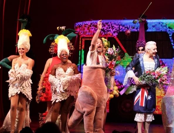 Ashley Spencer, Anastacia McCleskey, C. David Johnson and Tony Sheldon on opening night