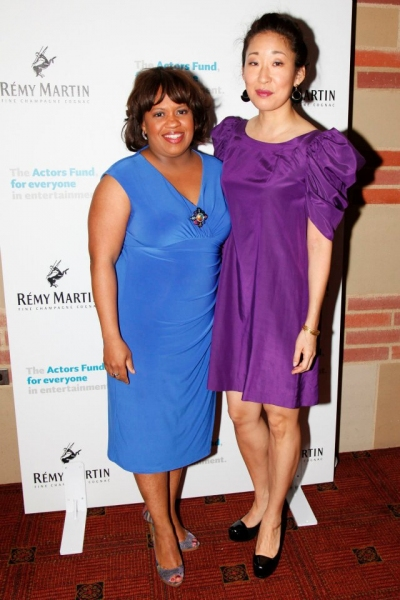 Chandra Wilson & Sandra Oh at GREY'S ANATOMY Cast Performs in Actors Fund Benefit Concert