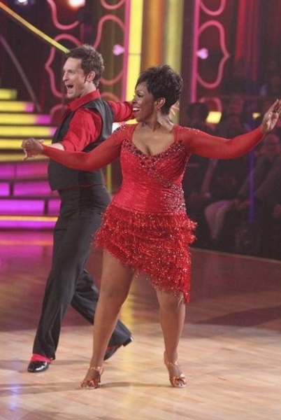 Tristan Macmanus & Gladys Knight at Premiere of DANCING WITH THE STARS Season 14