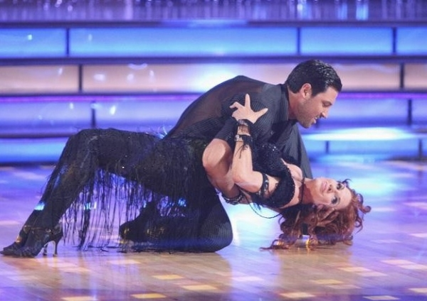 Maksim Chmerkovskiy & Melissa Gilbert at Premiere of DANCING WITH THE STARS Season 14