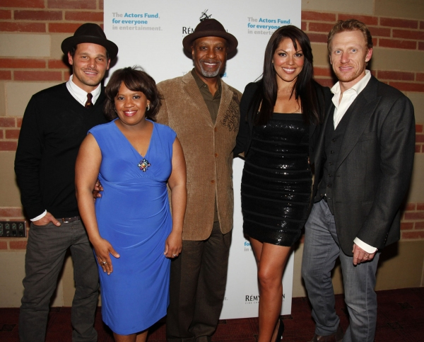 Justin Chambers, Chandra Wilson, James Pickens, Jr., Sara Ramirez and Kevin McKidd at GREY'S ANATOMY: THE SONGS BENEATH THE SHOW Benefits the Actors Fund