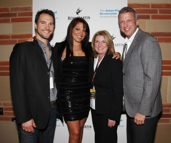 Michael Medico, Sara Ramirez, Meg Thomas and Keith McNutt at GREY'S ANATOMY: THE SONGS BENEATH THE SHOW Benefits the Actors Fund