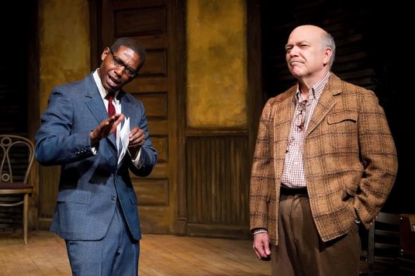 Royce Johnson as Luigi Wells, and Scott Robertson as George Hollewinski Photo