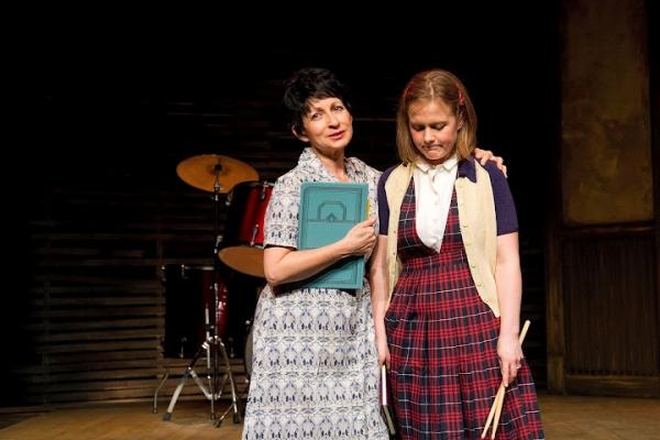Janice Hall as Helen Hollewinski and Rosebud Baker as Mary Margaret Irzandowsky