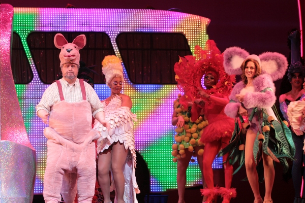 Adam Lefevre, Jacqueline B. Arnold, Nathan Lee Graham, and the cast of Priscilla Queen of the Desert at PRISCILLA QUEEN OF THE DESERT Celebrates 1 Year on Broadway!