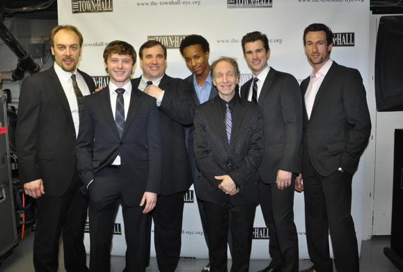 Alexander Gemignani, Bobby Steggert, Bill Daugherty, Kendrick Jones, Scott Siegel, Matt Cavenaugh and Aaron Lazar at Matt Cavenaugh, Beth Leavel & More in Broadway By The Year, The Musicals of 1950