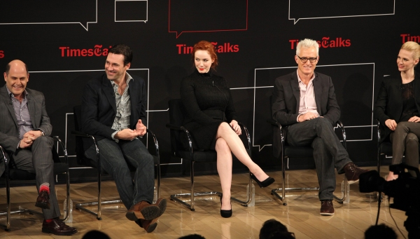 Matthew Weiner, Jon Hamm, Christina Hendricks, John Slattery, January Jones