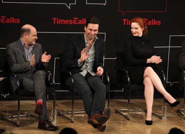 Matthew Weiner, Jon Hamm, Christina Hendricks  Photo