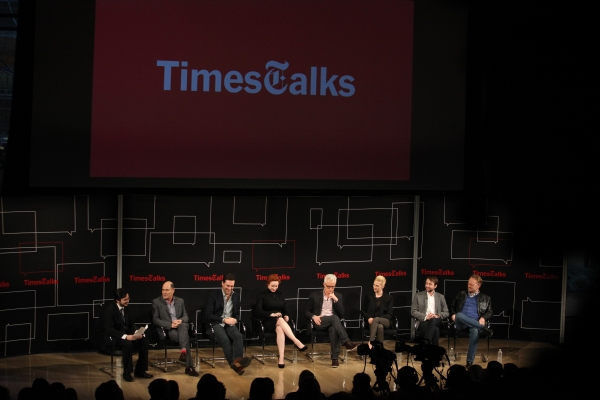 Dave Itzkoff, Matthew Weiner, Jon Hamm, Christina Hendricks, John Slattery, January Jones, Vincent Kartheiser and Jared Harris