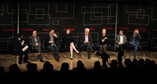 Dave Itzkoff, Matthew Weiner, Jon Hamm, Christina Hendricks, John Slattery, January J Photo