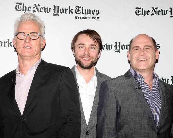 John Slattery, Vincent Kartheiser & Matthew Weiner Photo