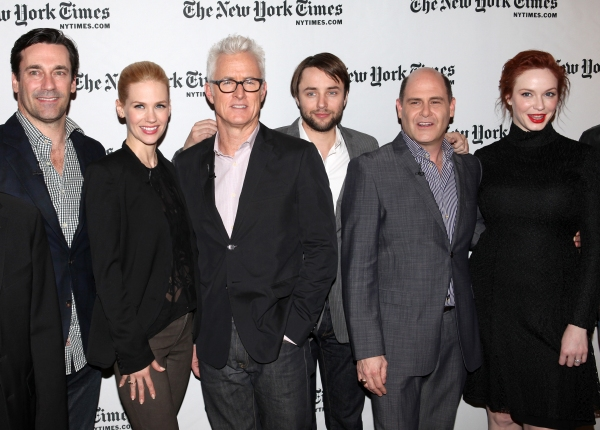 Jon Hamm, January Jones, John Slattery, Vincent Kartheiser, Matthew Weiner, Christina Photo