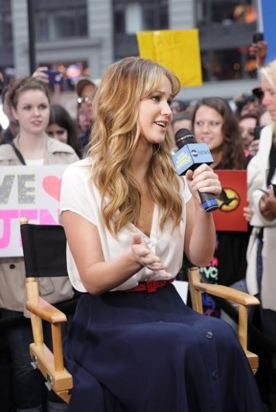 Jennifer Lawrence at THE HUNGER GAMES Jennifer Lawrence on 'Good Morning America'