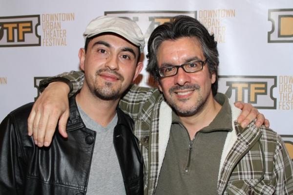 Playwrights Camilo Almonacid and Mel Nieves