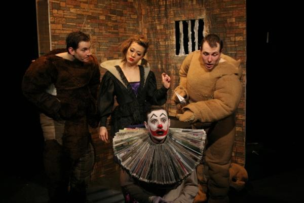 Ludovic (Dan Frost), Greta (Helen Russell Clark), Clown (Rhys King), Julius (James Sygrove)