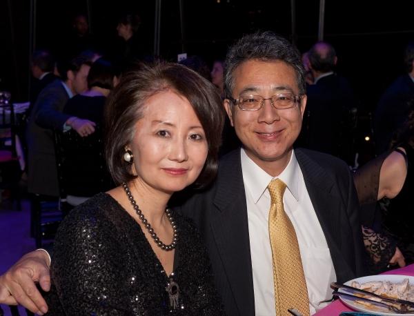 Japanese Ambassador Shigeyuki Hiroki, the Consul General of Japan in New York, with M Photo