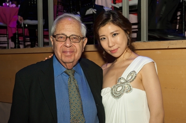 Gary Graffman, pianist and former president of The Curtis Institute of Music with fellow pianist Jingyi Zhang