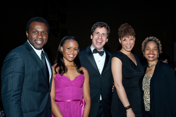 Joshua Henry and Nikki Renée Daniels from Broadway's Porgy and Bess; YPC Artistic Director/Founder Francisco J. Núñez; Director of the National Arts and Humanities Youth Program Awards Traci Slater-Rigaud; and YPC choreographer Jacquie Bird