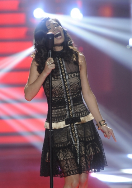 Jessica Sanchez at IDOL WATCH: The Top 10 Perform With New Looks!