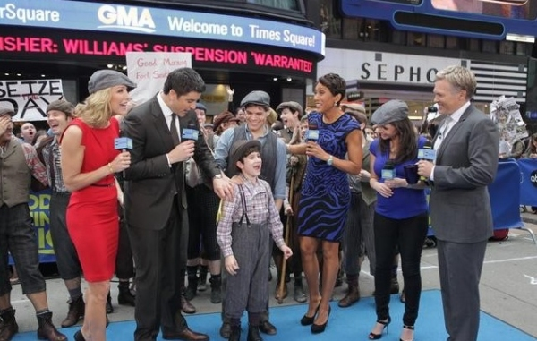 Photo Flash: The Cast of NEWSIES Performs on Good Morning America
