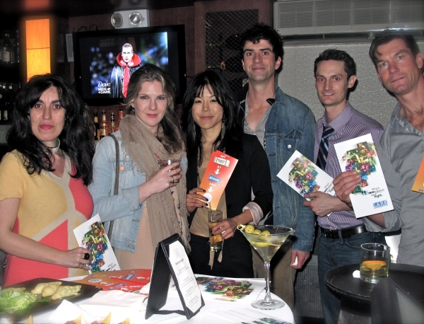U.S./Eastern European Exchange Program Director and playwright Saviana Stanescu, Lily Rabe, Hettienne Park, Hamish Linklater, Michael Robertson (Managing Director, LARK), and Jerry O'Connell