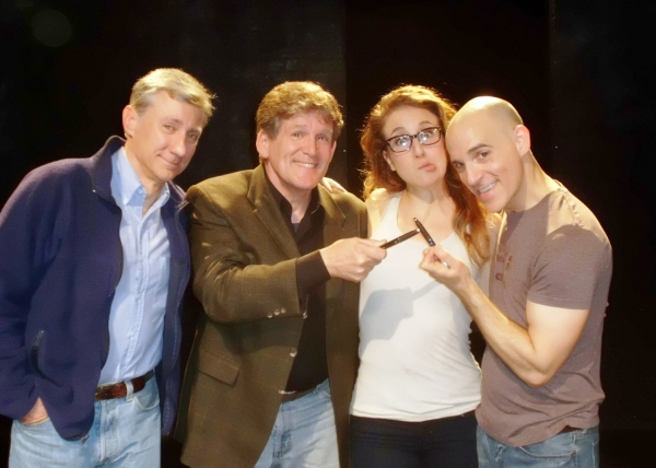 David Garrison, Anthony Heald, Jenn Harris and Harry Bouvy at SILENCE! THE MUSICAL Welcomes SILENCE OF THE LAMBS' Anthony Heald