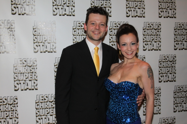 Jeremy Kushnier and Jenny Lee at JESUS CHRIST SUPERSTAR Opening Night Party