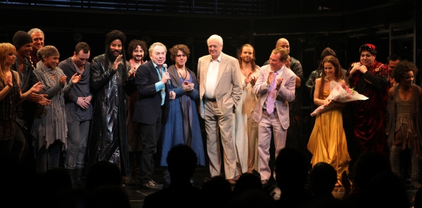 Andrew Lloyd Webber & Tim Rice with Tom Hewitt, Marcus Nance, Mike Nadajewski, Josh Young, Paul Nolan, Director Des McAnuff, Chilina Kennedy, Bruce Dow & Company at JESUS CHRIST SUPERSTAR Opening Night Curtain Call!
