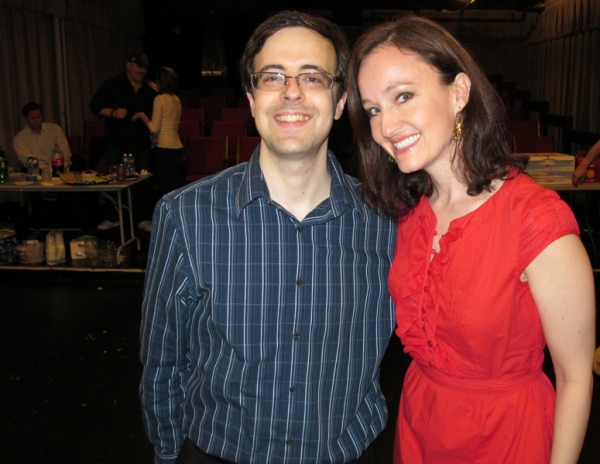 Van Dean and Melissa van der Schyff                 at Jeremy Jordan, Laura Osnes, et al. at BONNIE & CLYDE Listening Party!