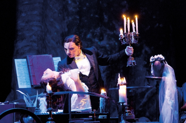 John Owen-Jones as The Phantom and Katie Hall as Christine
