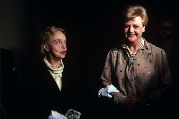 Lillian Gish and Angela Lansbury photographed in New York City in 1982