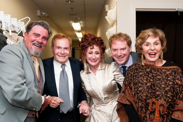 Gary Beach, Jerry Herman, Vicki Lewis, Andrew Kato, and Fran Weissler