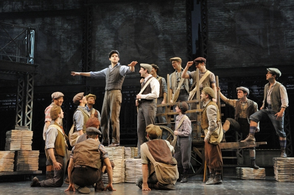 Photo Flash: EXTRA! EXTRA! First Look at NEWSIES on Broadway!