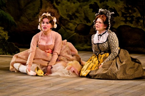 Jenny Latimer and Danielle Ferland at First Look at Danielle Ferland, Lauren Kennedy, et al. in Baltimore's INTO THE WOODS