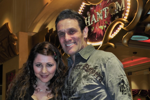 Frances Ruffelle and Anthony Crivello  at Frances Ruffelle Visits Vegas PHANTOM!