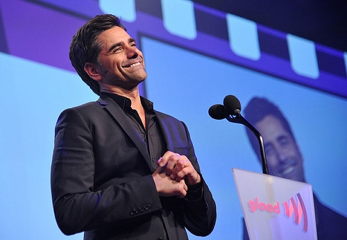 John Stamos at Cory Monteith, John Stamos, et al. at GLAAD Media Awards!
