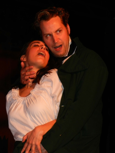 Jessica Billones as Lucy and Matt Curtis as Edward Hyde Photo