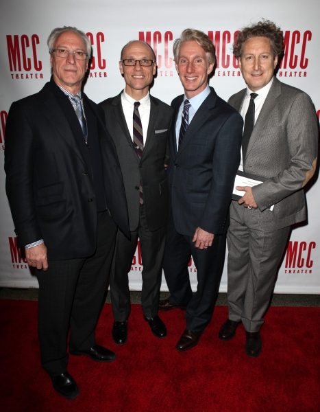 Robert Lupone, Will Cantler, Blake West & Bernie Telsey  at Constantine Maroulis, Marin Mazzie & All the Starry Arrivals at MCC MISCAST 2012