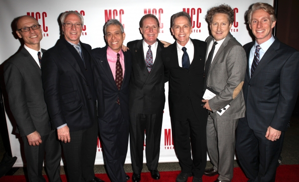 Will Cantler, Robert Lupone, Lawrence D. Cohen, Michael Gore, Dean Pitchford, Bernie Telsey & Blake West  at Constantine Maroulis, Marin Mazzie & All the Starry Arrivals at MCC MISCAST 2012
